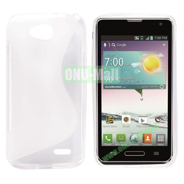 S Shape TPU Case for LG L90 (White)