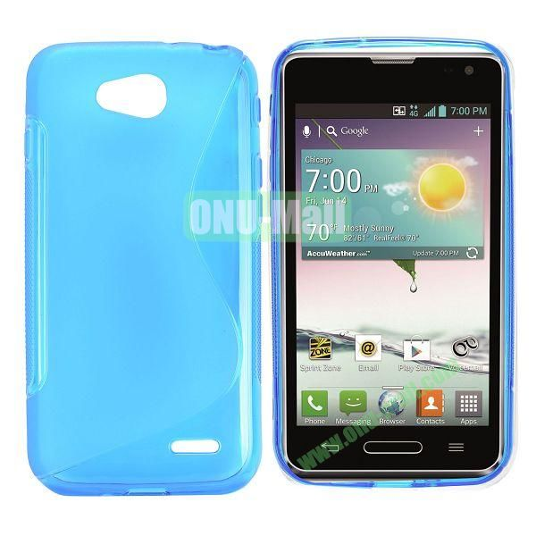 S Shape TPU Case for LG L90 (Blue)