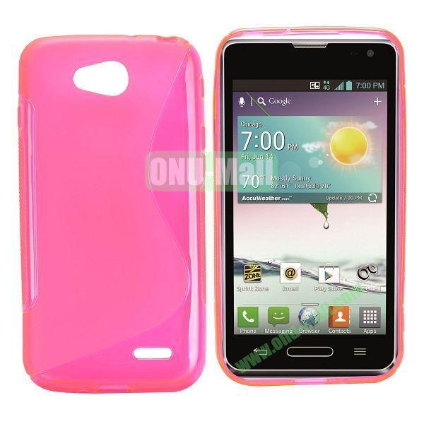 S Shape TPU Case for LG L90 (Pink)