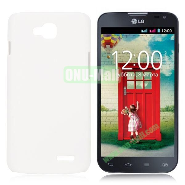 Solid Color Coated Matte Hard Case for LG L90 (White)