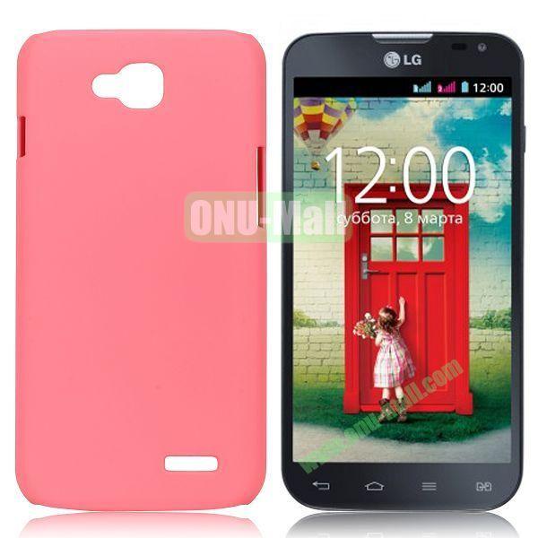 Solid Color Coated Matte Hard Case for LG L90 (Pink)