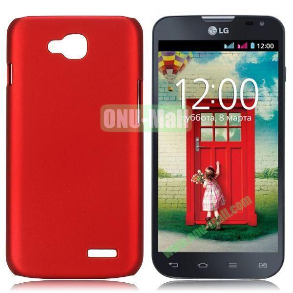 Solid Color Coated Matte Hard Case for LG L90 (Red)