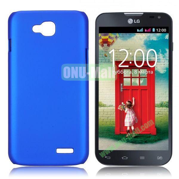 Solid Color Coated Matte Hard Case for LG L90 (Dark Blue)