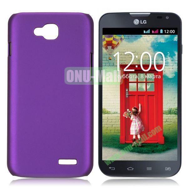 Solid Color Coated Matte Hard Case for LG L90 (Purple)