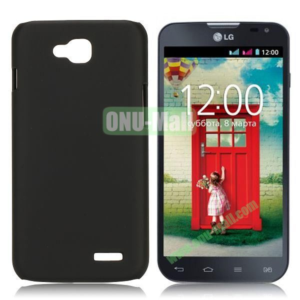 Solid Color Coated Matte Hard Case for LG L90 (Black)