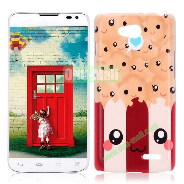 Cute Cartoon Pattern Protective PC Hard Back Cover Case for LG Optimus L90 D405 D410