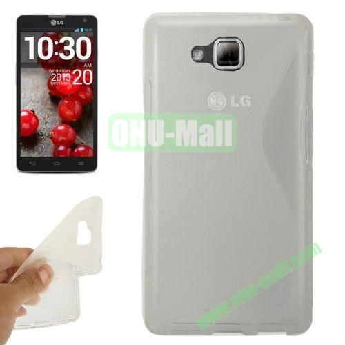 S-Shaped TPU Case for LG Optimus L9 II  D605 (Transparent)