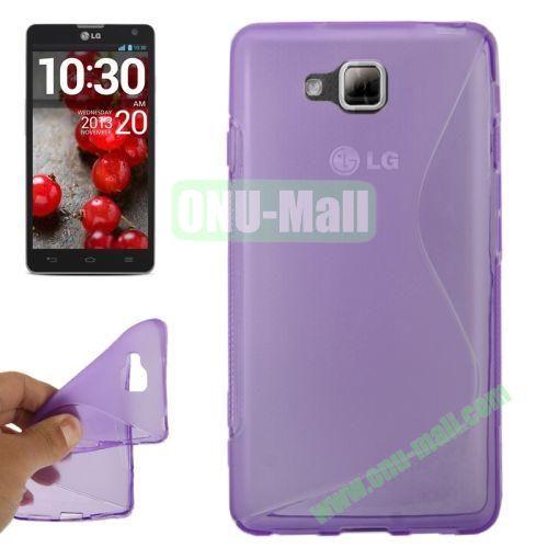 S-Shaped TPU Case for LG Optimus L9 II  D605 (Purple)