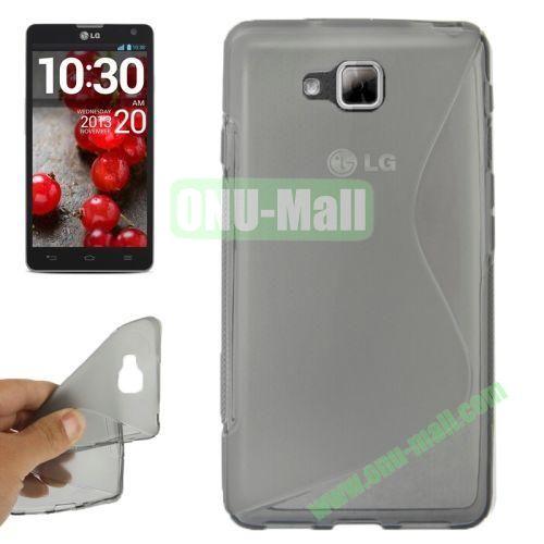 S-Shaped TPU Case for LG Optimus L9 II  D605 (Grey)