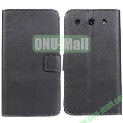 PU Material Wallet Leather Case for LG Optimus G Pro(F240) with Card Slots and Holder (Black)
