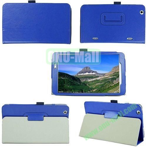 Crazy Horse Texture Flip Stand Leather Case for LG G Pad 8.3 with Pen Holder (Blue)