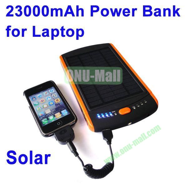 23000mAh Mobile Power Bank Solar Charger for Laptop