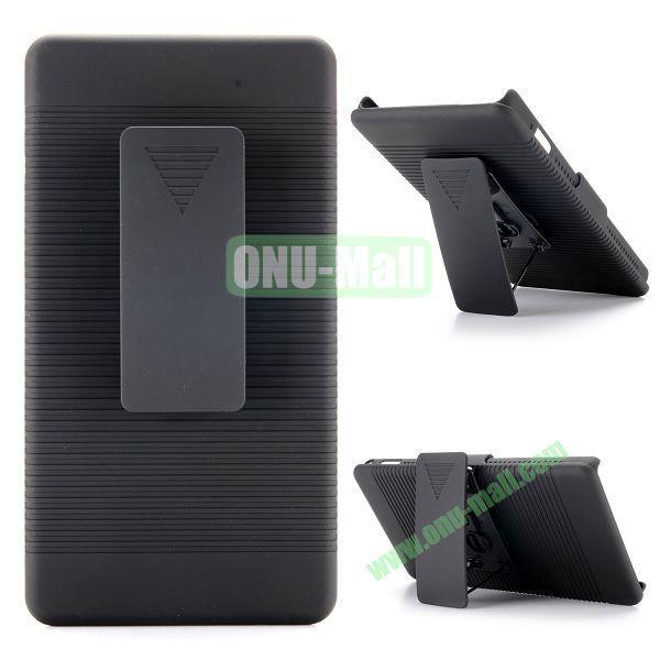 2 in 1 Belt Clip Detachable Holster Combo PC Hard Case for Sony Xperia M2 S50h D2303 D2305 D2306 M2 Dual D2302 with Kickstand