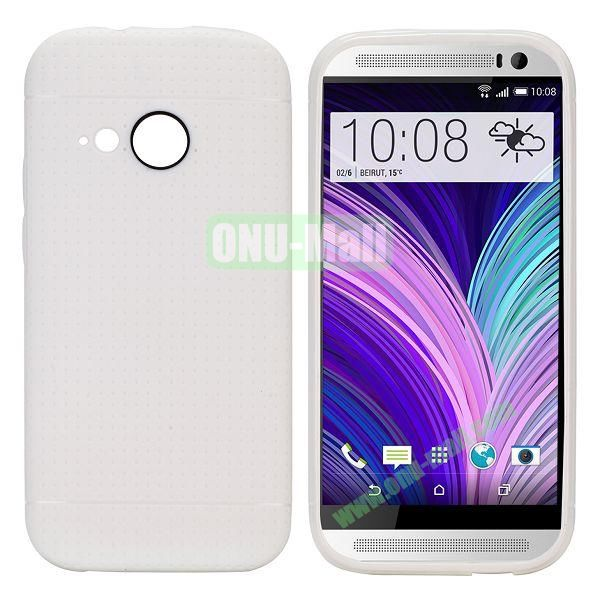 Simple Solid Color Soft TPU Case For HTC One M8 mini (White)
