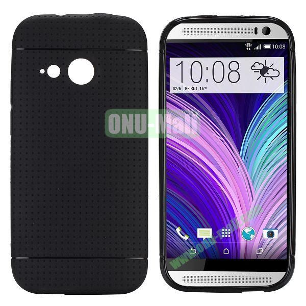 Simple Solid Color Soft TPU Case For HTC One M8 mini (Black)
