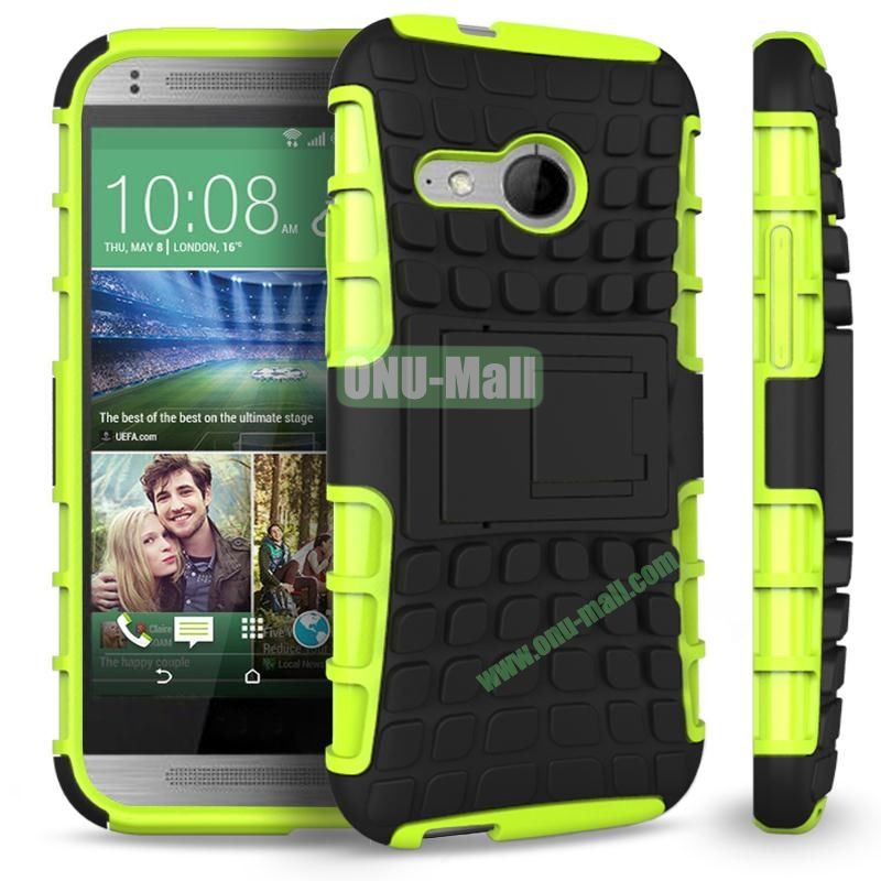 Detachable Antiskid PC and TPU Hybrid Rugged Case For HTC One 2 M8 Mini (Yellow)