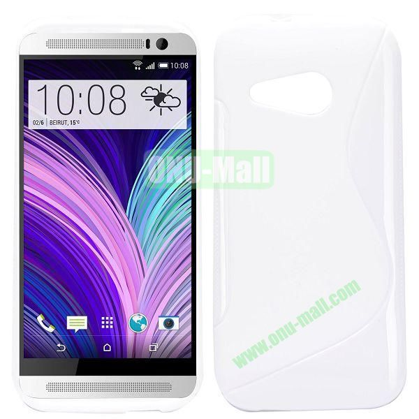 S Shape TPU Case for HTC One M8 Mini One Mini 2 (White)