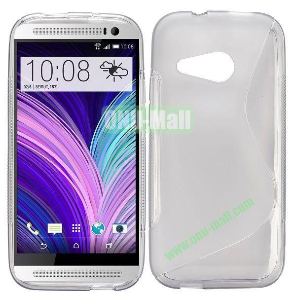 S Shape TPU Case for HTC One M8 Mini One Mini 2 (Grey)