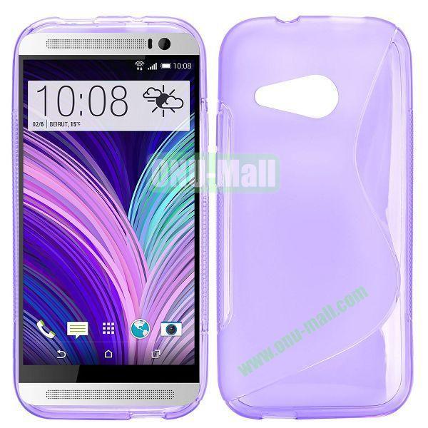 S Shape TPU Case for HTC One M8 Mini One Mini 2 (Purple)