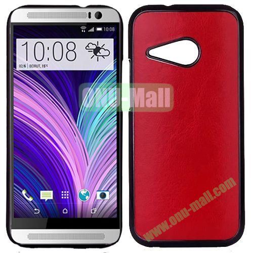 Crazy Horse Texture Electroplated Hard PC Case For HTC One M8 Mini (Red)
