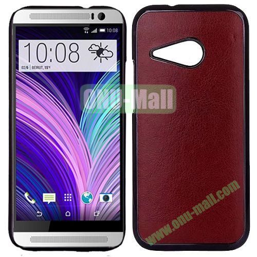 Crazy Horse Texture Electroplated Hard PC Case For HTC One M8 Mini (Brown)