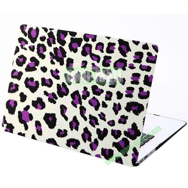 Embossment Pattern Plastic Case for MacBook Pro 13 inch Retina(Purple)