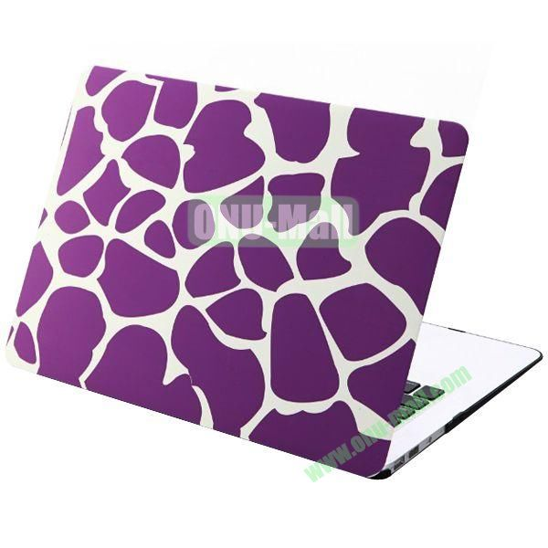 Embossment Pattern Plastic Case for MacBook Pro 13 inch Retina(Purple)