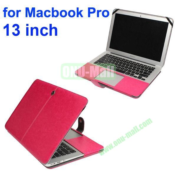 Crazy Horse Texture Flip PU Leather Case for Macbook Pro 13 inch (Rose)