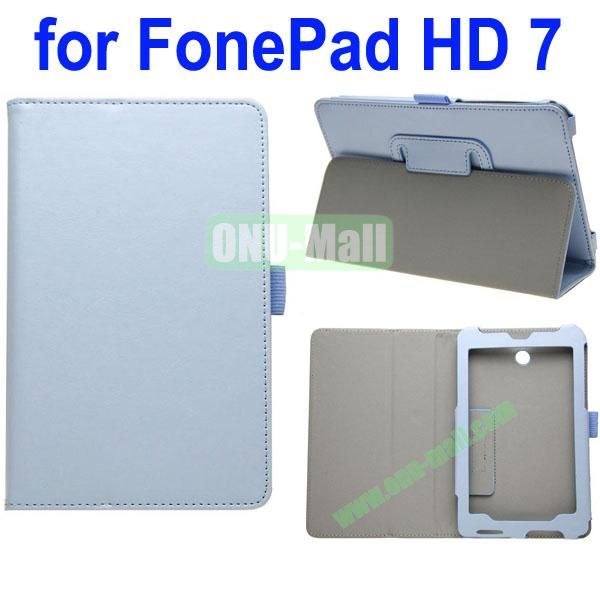 Crazy Horse Texture Leather Case for Asus FonePad HD 7ME372 (Light Blue)