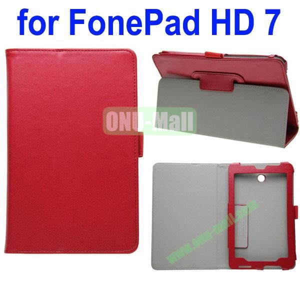 Crazy Horse Texture Leather Case for Asus FonePad HD 7ME372 (Red)