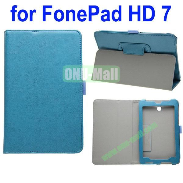 Crazy Horse Texture Leather Case for Asus FonePad HD 7ME372 (Blue)