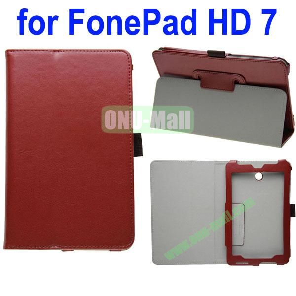 Crazy Horse Texture Leather Case for Asus FonePad HD 7ME372 (Brown)
