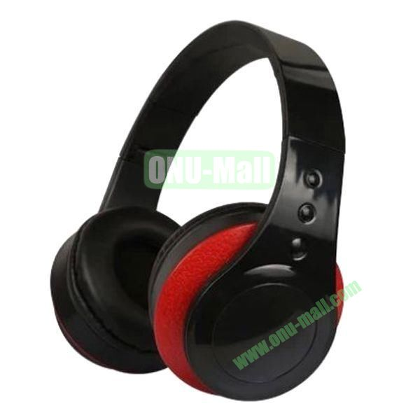 High Quality Simple and Plain Style Foldable Stereo Headband Headset Headphone (Black+Red)