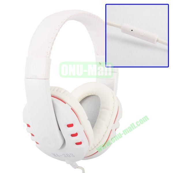 MAIBOSI MA-203 Stereo Headphone Over-ear Headphone With Microphone for iPad AiriPad Mini RetinaiPhone 6S5HTC M8 etc (White+Red)