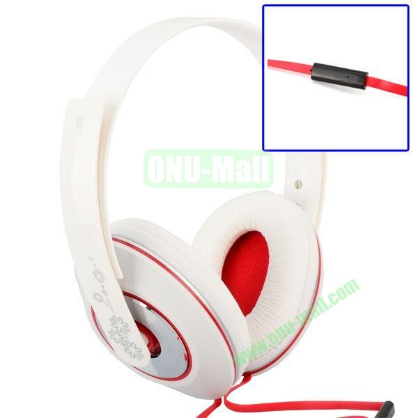 Mo-123 Fashional Special Classic Headphone with Microphone (White)