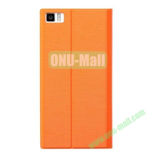 Fashion Ultrathin Official Removable Flip Stand Leather Case for Miui MI3 (Orange)