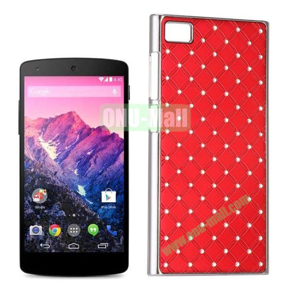 Shiny Diamond Electroplated PC Hard Case for Miui MI3 (Red)