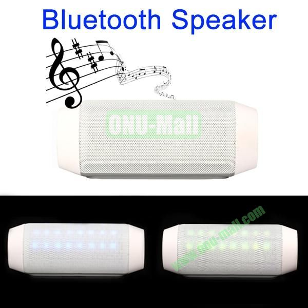 Multi-functional Portable Bluetooth Speaker with Hands-free Calls Function (White)