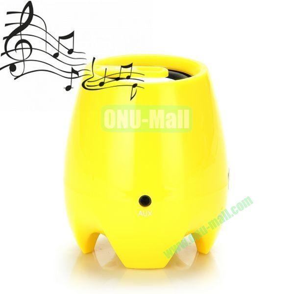 D-93B HIFI Stereo Wireless Portable Handfree Bluetooth Speaker Support TF (Yellow)