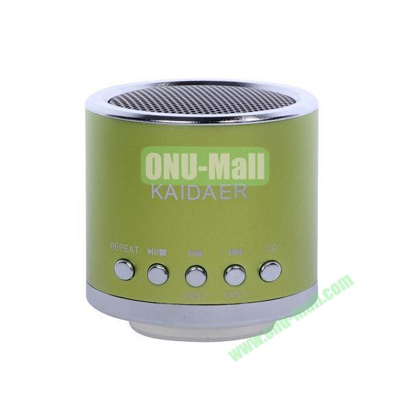 Mini Speaker Support Micro SD Card (Green)