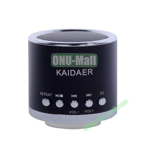 Mini Speaker Support Micro SD Card (Black)