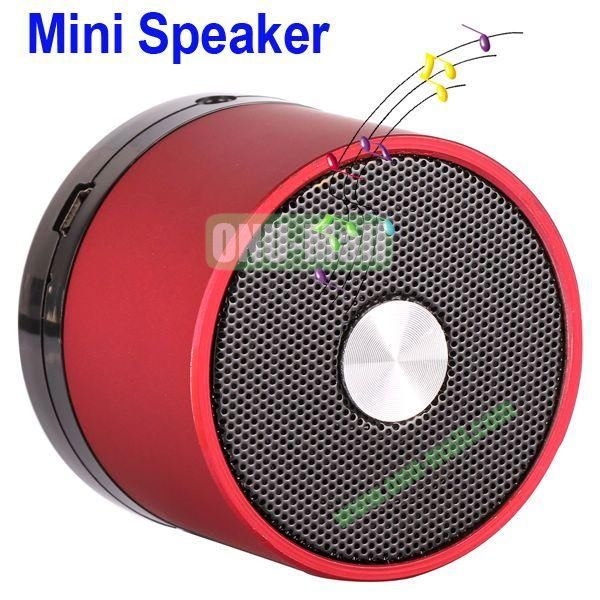 Mini Round Singing Table Speaker Support SD Card (Red)
