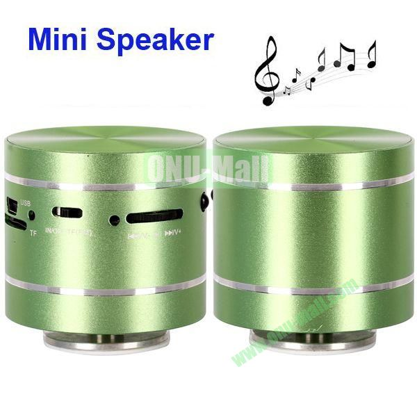 USBTF Card Mini Round Singing Table Speaker with FM Radio (Green)
