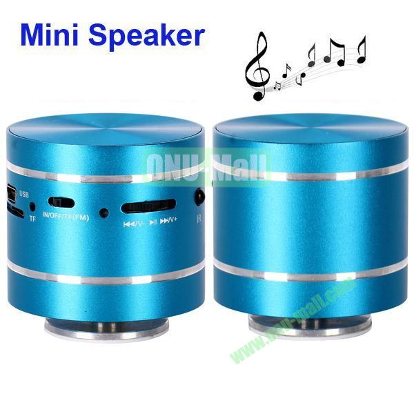 USBTF Card Mini Round Singing Table Speaker with FM Radio (Blue)