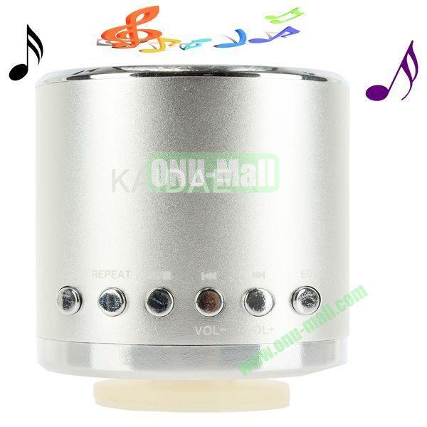 Portable Mini Music SD USB Speaker FM for PC Mobile Phone MP3 MP4 PSP (Sliver)