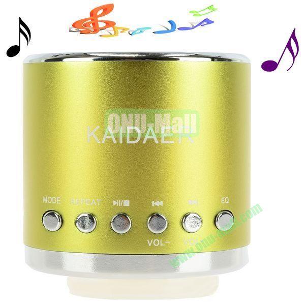 Portable Mini Music SD USB Speaker FM for PC Mobile Phone MP3 MP4 PSP (Green Gold)