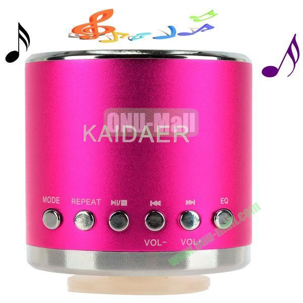 Portable Mini Music SD USB Speaker FM for PC Mobile Phone MP3 MP4 PSP (Rose)