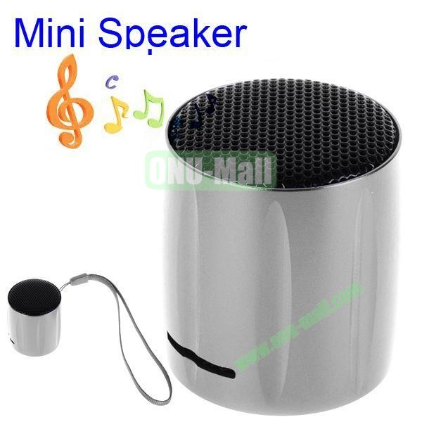KOLEE Line-in Style Mini Speaker with Lanyard for PC Mobile Phone MP3 MP4 PSP (Sliver)