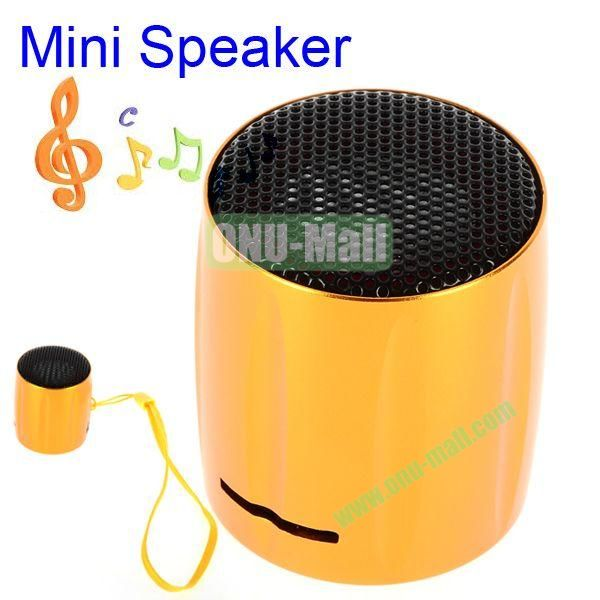 KOLEE Line-in Style Mini Speaker with Lanyard for PC Mobile Phone MP3 MP4 PSP (Orange)