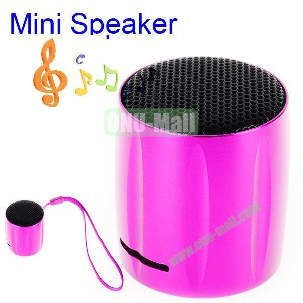 KOLEE Line-in Style Mini Speaker with Lanyard for PC Mobile Phone MP3 MP4 PSP (Rose)